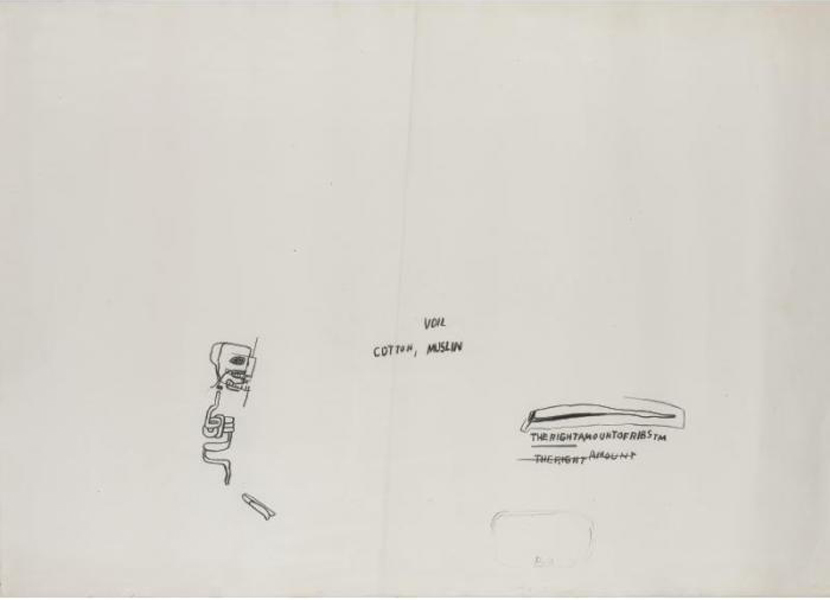 Jean-Michel Basquiat-Untitled (Voil, Cotton, Muslin)-1982