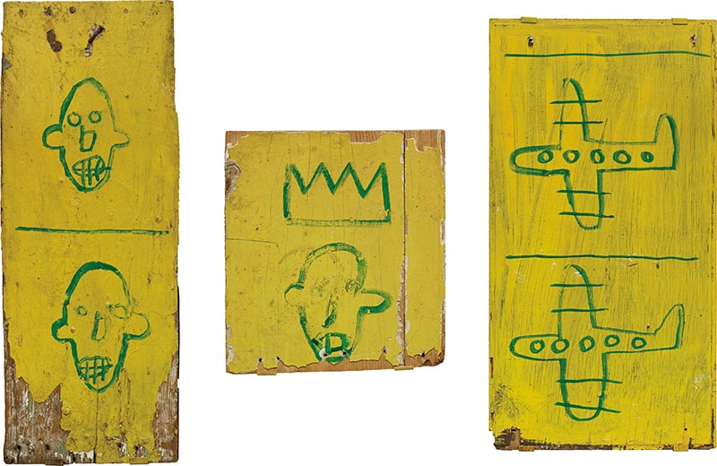 Jean-Michel Basquiat-Untitled (Wooden Triptych)-1981