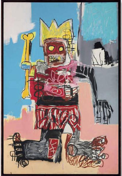 Jean-Michel Basquiat-Untitled (Yellow Bone King)-1982