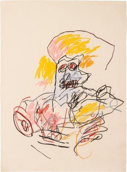 Jean-Michel Basquiat-Untitled (Yellow Hair Torso)-1982