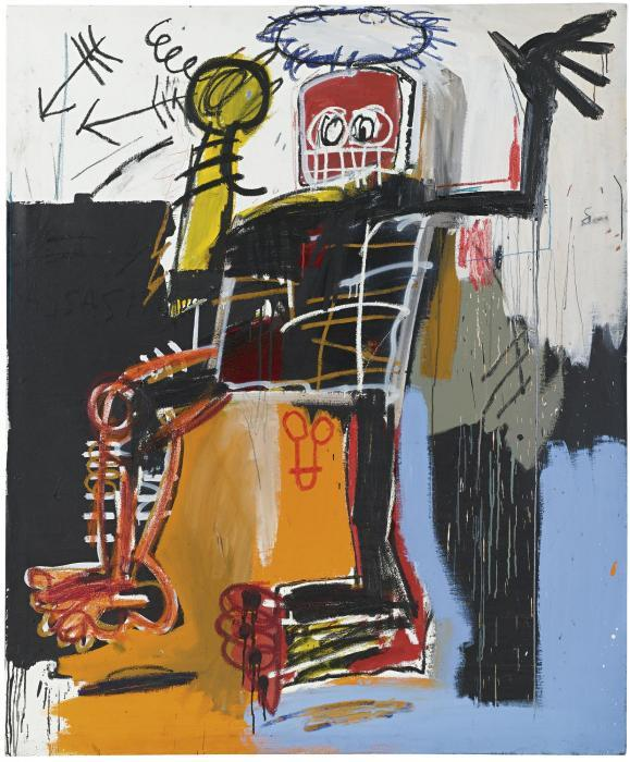 Jean-Michel Basquiat-Untitled (Yellow Hand King)-1981