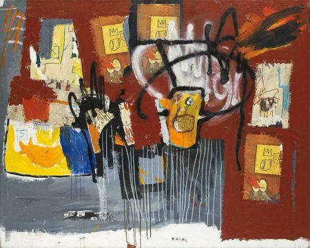 Jean-Michel Basquiat-Untitled (Yellow Head Black Halo)-1981
