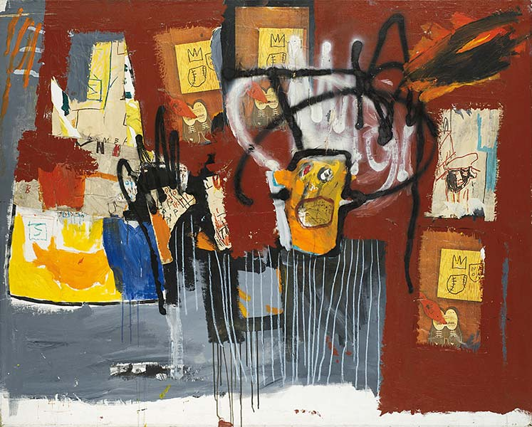 Jean-Michel Basquiat-Untitled (Yellow Head Black Halo)-1981