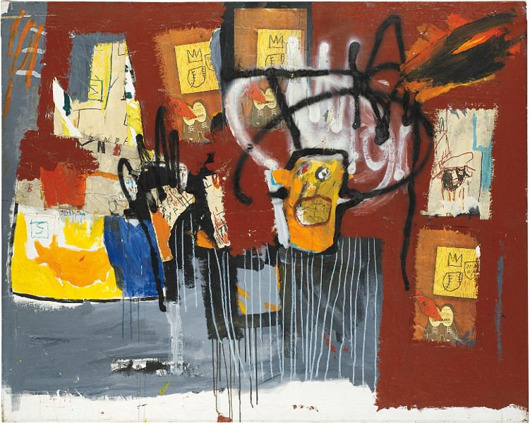 Jean Michel Basquiat - Untitled (Yellow Head Black Halo)