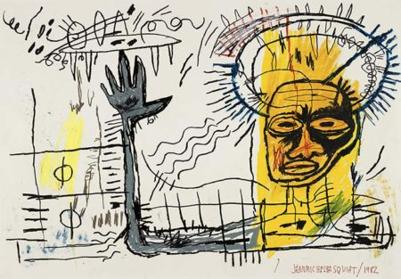 Jean-Michel Basquiat-Untitled (Yellow Head King)-1982