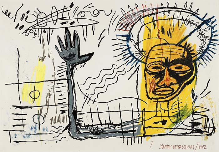 Jean-Michel Basquiat-Untitled (Yellow Head King)-1982