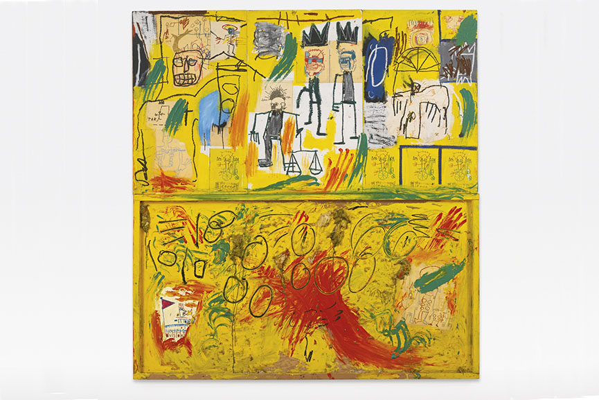 This is one of the first Jean Michel Basquiat paintings considered as his mature work and a step forward for his art