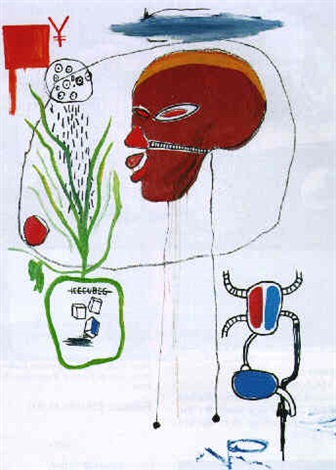 Jean-Michel Basquiat-Untitled (for B.A.M.)-1985