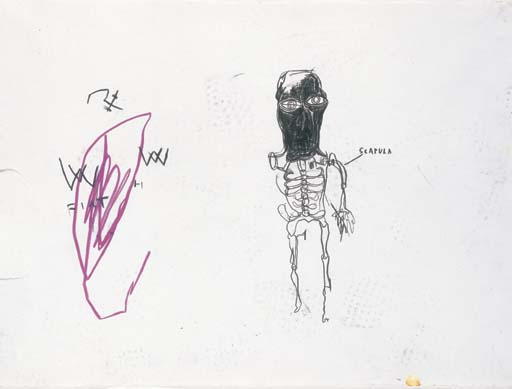 Jean-Michel Basquiat-Untitled, scapula-1983