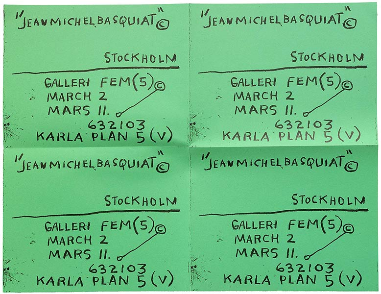 Jean-Michel Basquiat-Untitled, (Green Stockholms)-1983