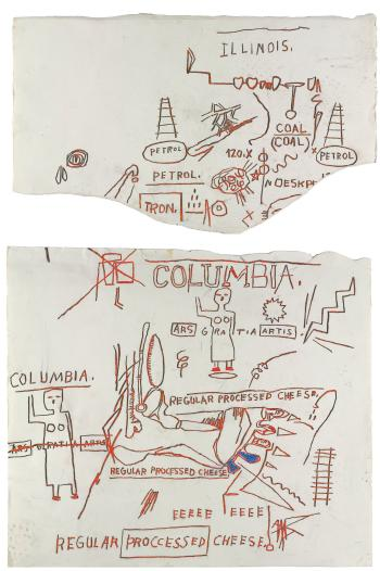 Jean-Michel Basquiat-Untitled(Two Works)-1982