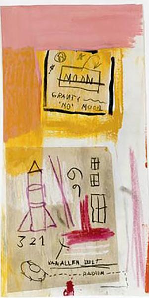 Jean-Michel Basquiat-Van Allen Belt-1985