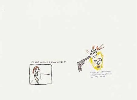 Jean-Michel Basquiat-Vincent with Whore-1983
