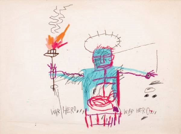 Jean-Michel Basquiat-War Hero-1982