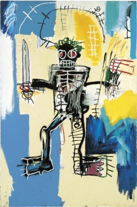 Jean-Michel Basquiat-Warrior-