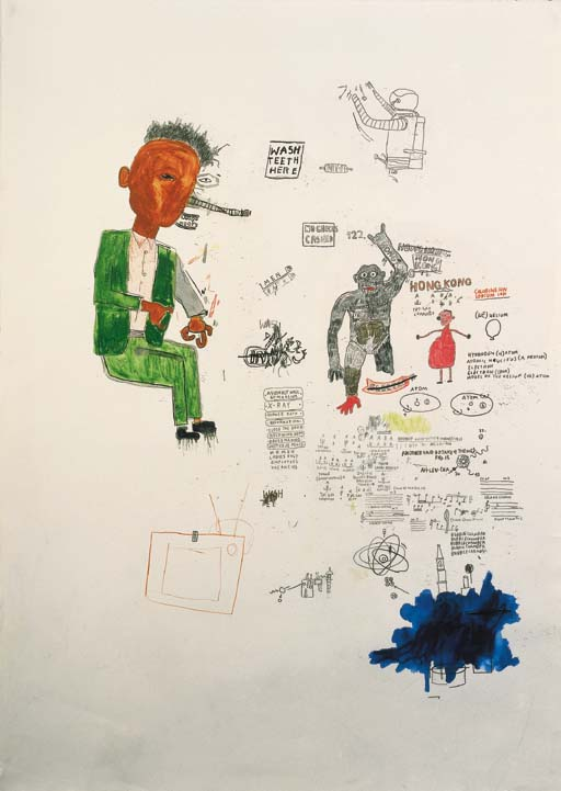 Jean-Michel Basquiat-Wash Teeth Here-1986