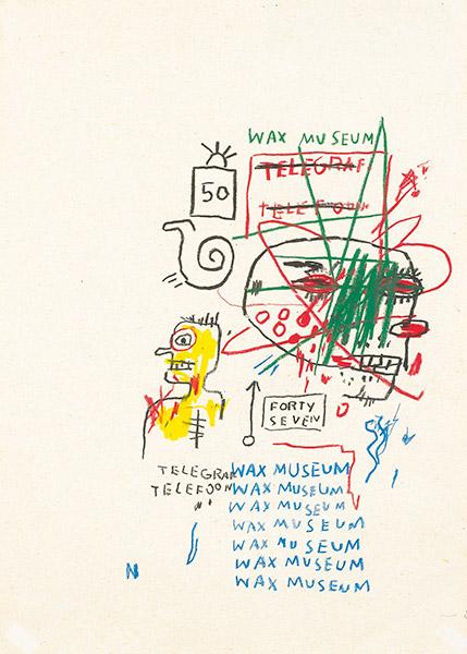 Jean-Michel Basquiat-Wax Museum-1983