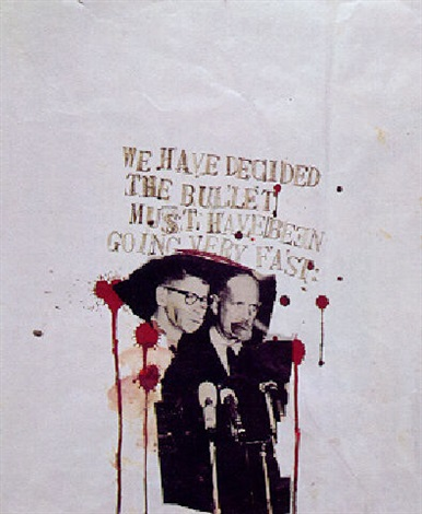 Jean-Michel Basquiat-We Have Decided the Bullet must Have Been Going very Fast-1979