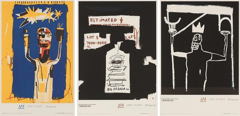 Jean-Michel Basquiat-Welcoming Jeers/Big Pagoda/Untitled-1987