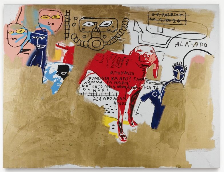 Jean-Michel Basquiat and Andy Warhol - Dog, 1984