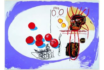 Jean-Michel Basquiat and Andy Warhol - Eggs, 1985