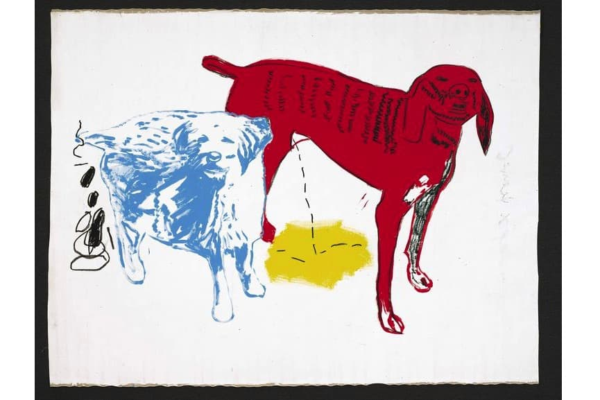 Jean-Michel Basquiat and Andy Warhol - Untitled (Two Dogs), 1984