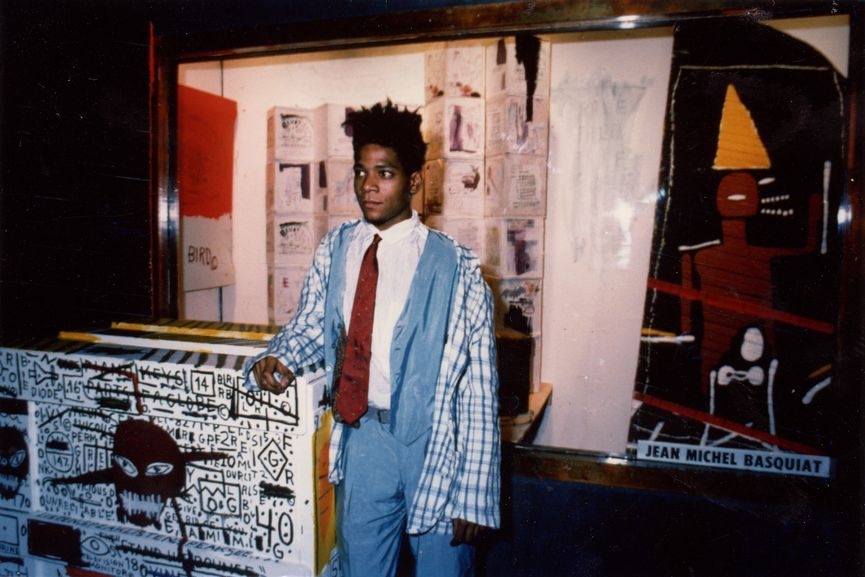 Jean-Michel Basquiat at Area, 1984