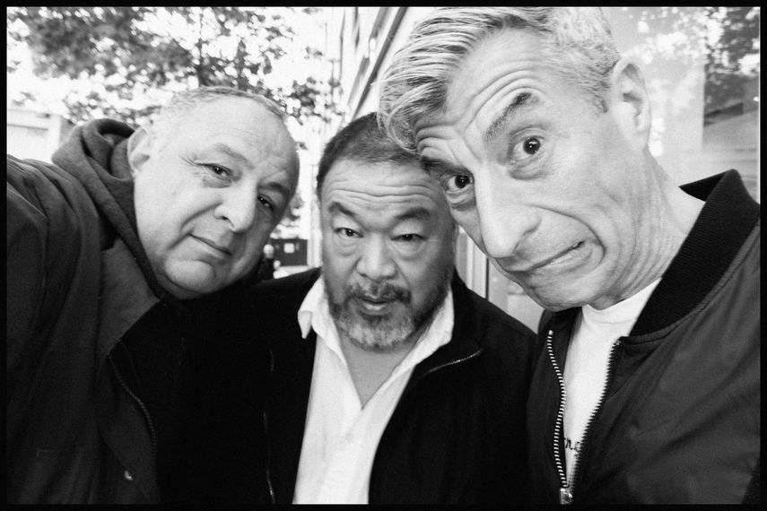 ME, Ai WeiWei and Maurizio Cattelan, 2016