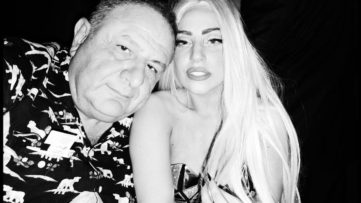 Jean Pigozzi - ME and Lady Gaga, 2012