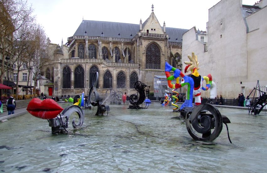 Jean Tinguely and Niki de Saint Phalle - Stravinsky Fountain, 1983, Paris, photo via Wikipedia