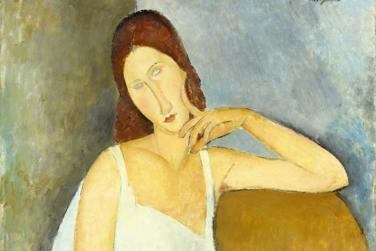 Amedeo Modigliani - Jeanne Hébuterne, 1919 (detail). Tate Modern 2017