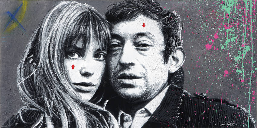 Jef Aerosol - Gainsbourg & Birkin, 2013, lille, group, french
