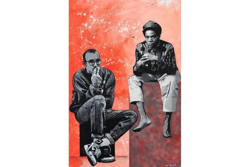 Jef Aerosol - Jean-Michel Basquiat & Keith Haring