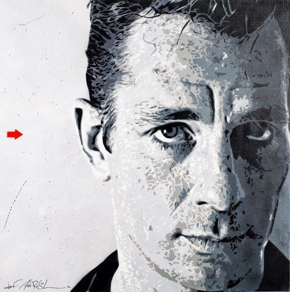 Jef Aerosol-Portrait De Jack Kerouac-2012
