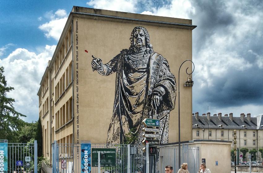 Jef Aerosol - Stan, mural in Nancy, France, 2016