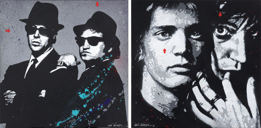 Jef Aerosol - The Blues Brothers, 2013 (Left) - Robert Mapplethorpe & Patti Smith, 2013 (Right), france, group, lille, french, jef, english, privacy