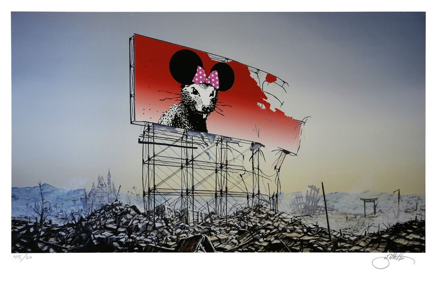 Jeff Gillette - Banksy Minnie Nagasaki, 2016