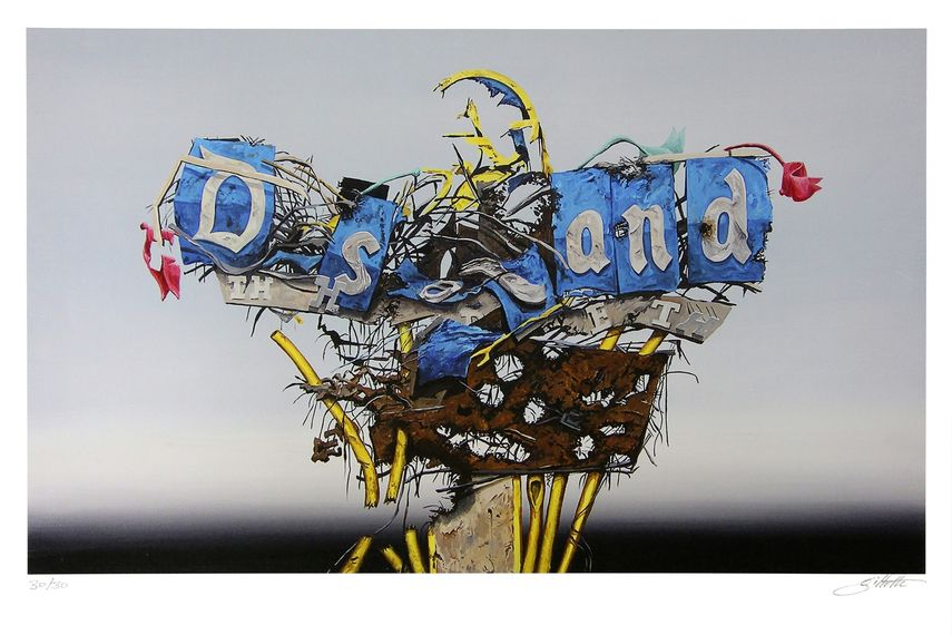 Jeff Gillette - Disney Sign Destruct, 2015