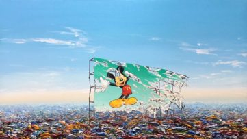 Jeff Gillette - Mickey Billboard Plastic Landfill, 2019