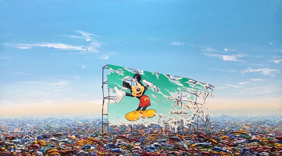 Jeff Gillette - Mickey Billboard Plastic Landfill, 2019