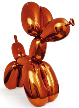 Jeff Koons, Balloon Dog (Orange), 1994, terms of the guggenheim museum and gallery