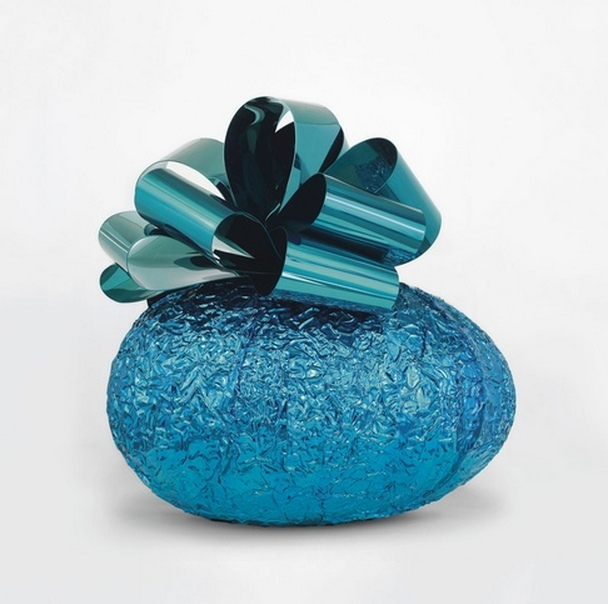 Jeff Koons-Baroque Egg with Bow (Blue Turquoise)-2008