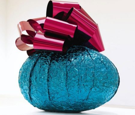 Jeff Koons-Baroque Egg with Bow (Turquoise, Magenta)-2008