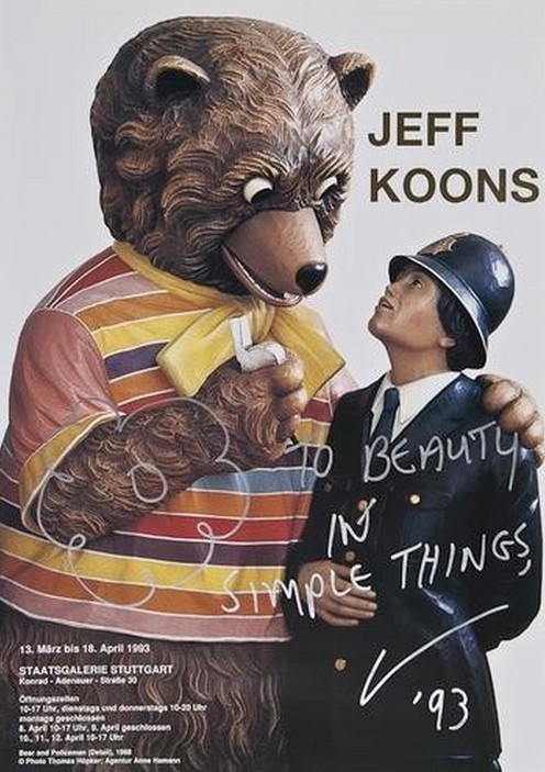 Jeff Koons-Bear and Policeman-1993