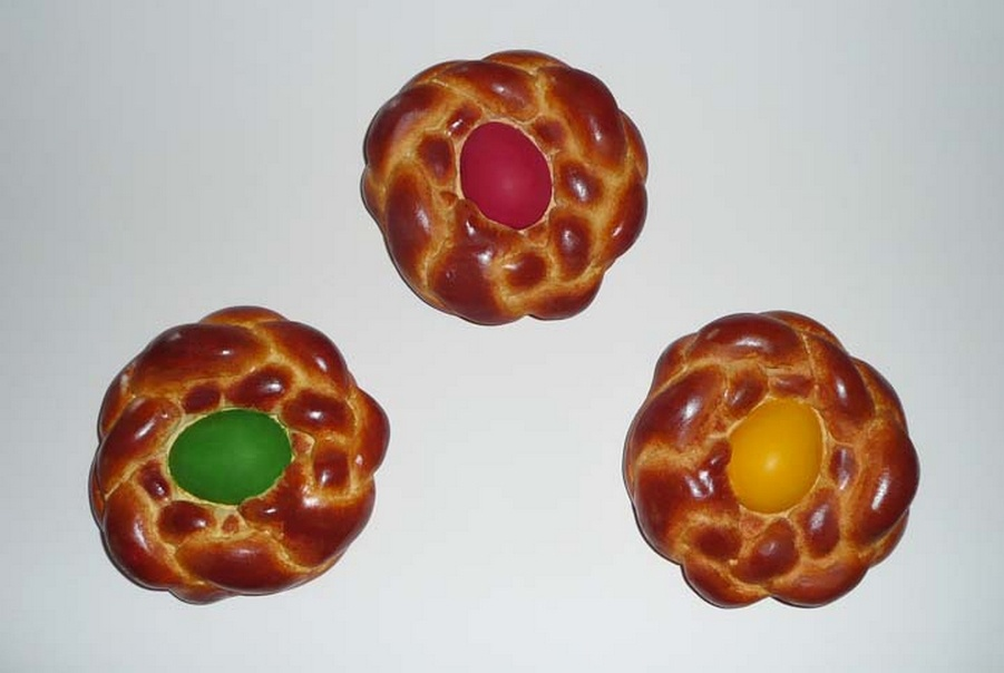 Jeff Koons-Bread with Egg (Green, Red and Yellow)-1995