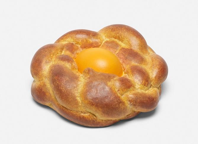 Jeff Koons-Bread With Egg (Yellow)-1995
