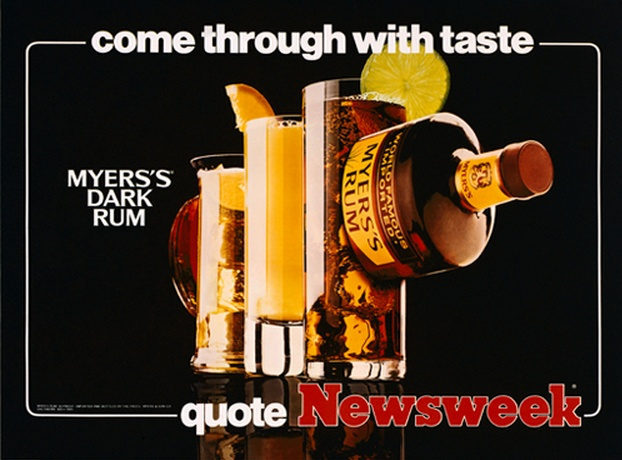 Jeff Koons-Come through with taste (Myers's Dark Rum Quote Newsweek)-1986