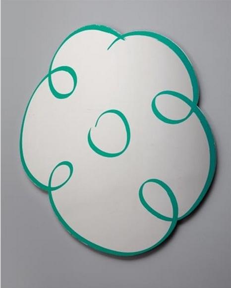 Jeff Koons-Flower Drawing (Green)-2011