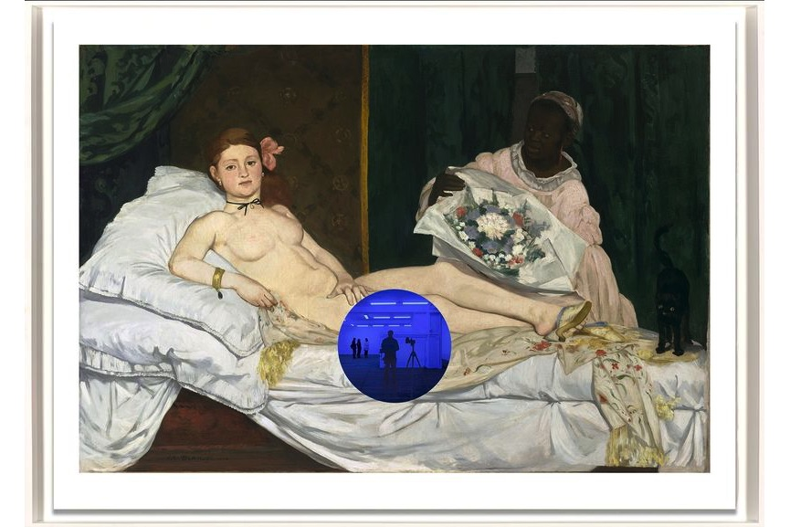 Jeff Koons - Gazing Ball (Manet Olympia)