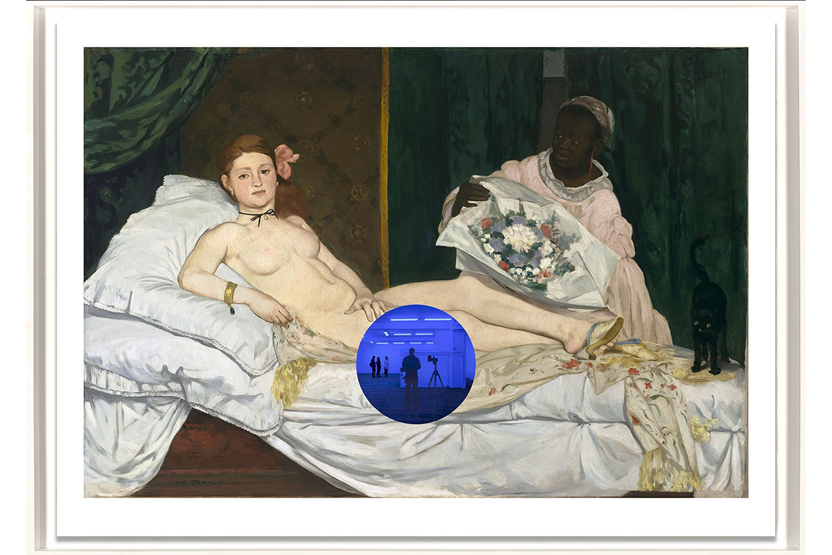 Jeff Koons Gazing Ball (Manet Olympia)